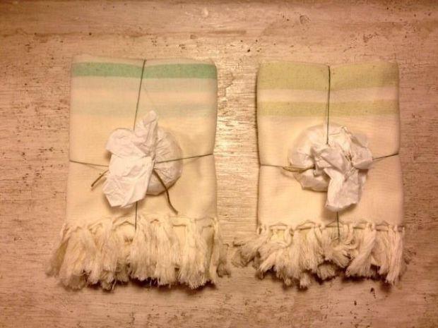 toalla de seda y jabón de aceite de oliva- avant