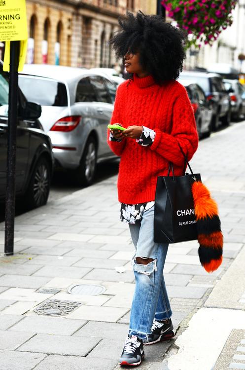 suéter rojo
