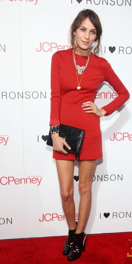 alexa chung red dress