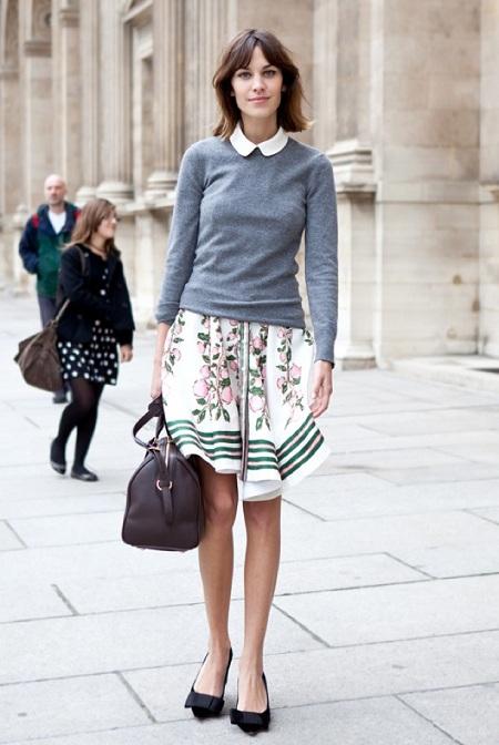 Paris Fashion Week Streetstyle, outside Louis Vuitton, Alexa Chung
