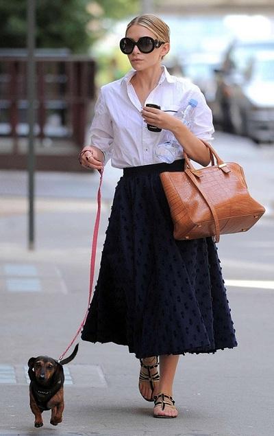 Ashley-Olsen-Classic-Banded-Collar-White-Shirt
