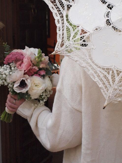 Bouquet para novia Flores en el columpio