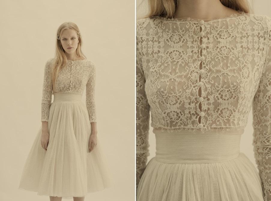 Vestido de novia estilo vintage