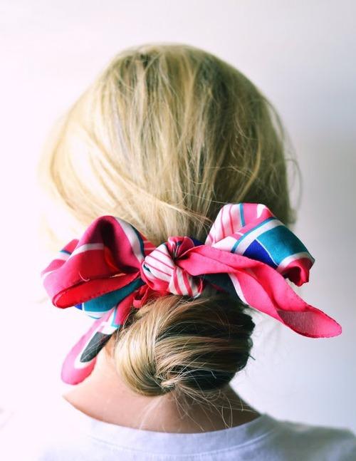 cómo ponerse en pañuelo en el pelo
