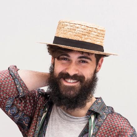 sombrero tipo canotier